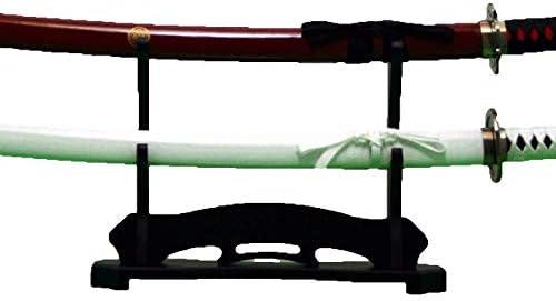 刀掛け 黒 スタンド 刀別売 刀掛台 刀置き 剣置き 刀かけ台 日本刀 居合刀 2本掛け 2段 FS22