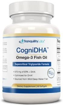 High DHA Omega 3 Fish Oil – CogniDHA – Pharmaceutical Grade – 1,250 mg Omega-3s – Supercritical CO2 Triglyceride Formula – 775 200 DHA EPA – Excellent for Prenatal