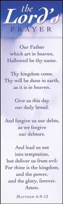 The Lord's Prayer Bookmark (Package of 25) - God Prayer Card