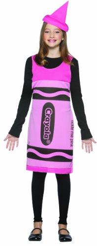 [Rasta Imposta Crayola Tickle Me Tank Dress, Pink, Tween 10-12] (Tween Crayon Costumes)