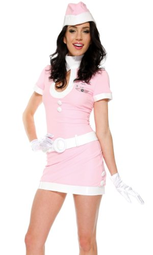 Forplay Women's Coffee Tea Or Me Adult Sized Costumes, Pink, Small/Medium