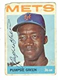 Autograph Warehouse 57647 Pumpsie Green Autographed Baseball Card New York Mets 1964 Topps No .442 Poor Condition
