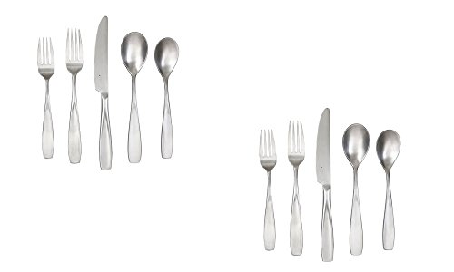 Cambridge Silversmiths Inez Satin 20-Piece Flatware Set (Set of 2)