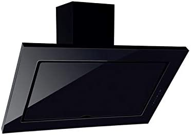 Campana extractora campana negra para cocina a pared pantalla Touch luz LED 60 x 60 cm: Amazon.es: Hogar