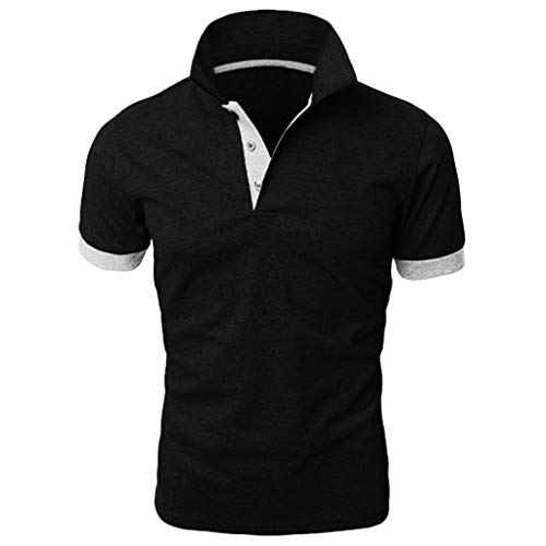 iSovze Summer Fashion Men's Personality Stitching Two-Color Comfortable T-Shirts White (Rooms To Go Fourth Of July Sale 2016)