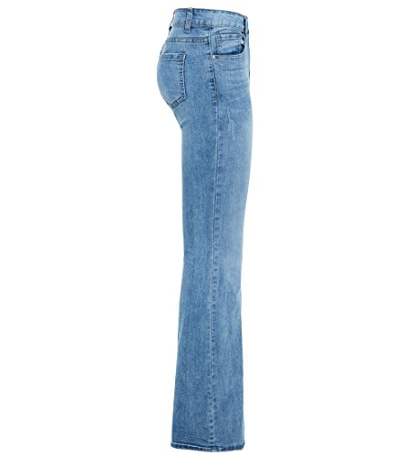 Jeans Bootcut Flare 44 Denim Denim SS7 Jean Taille Nouveau Extensible Bleu Femmes vass 34 0qnYcFS