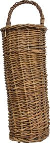 Natural Willow Woven Long Basket Waled Edge Flat Back Country Primitive Wall Décor