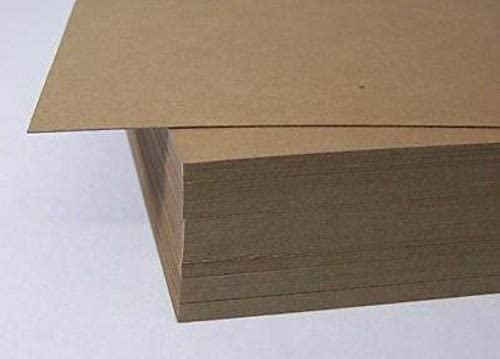 Pack of 500 Secure Seal 12x12 Brown Chipboard Pads//Sheets 22pt Lightweight