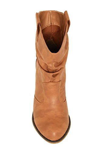 Distressed With Charles Tabs Pull Boot Western Albert Cowboy Modern up Tan Women's xqZwZXF0S