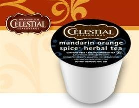 Celestial Seasonings Mandarin Orange Spice Hot Herbal Tea * 3 Boxes of 24 K-Cups * by Green Mountain Coffee