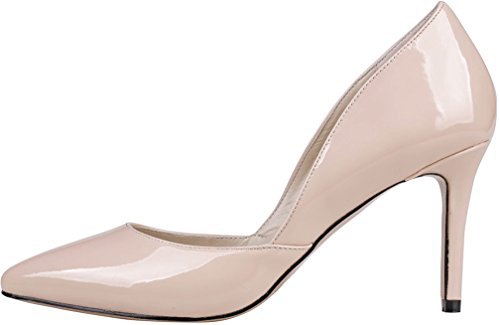 5CM Pink Pointed Calaier Shoes On Camiss Stiletto Court 8 Women Toe Slip XqwSPqAfx