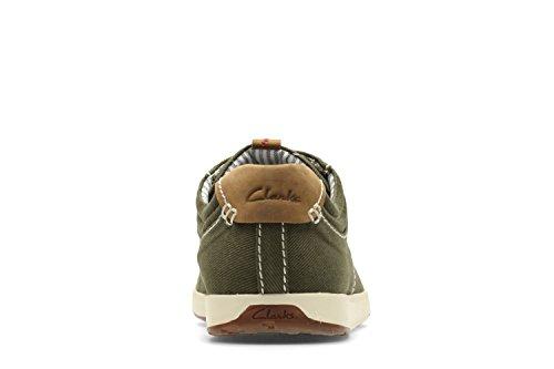 Clarks Casual Hombre Zapatos Norwin Vibe En Textil Verde