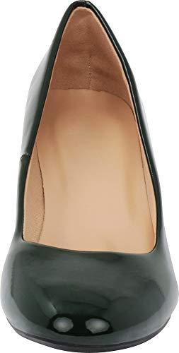 Heel Patent Toe Kitten Cambridge Select Olive Pump Women's Round Classic Dress TTHYvg