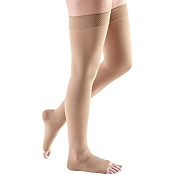 aad97a911cc49 mediven Comfort, 15-20 mmHg, Thigh High Compression Stockings, Open Toe