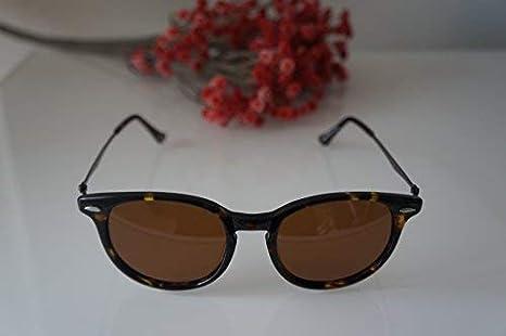 c475c0d746af7 Petite Size Round Retro Lightweight Sunglasses by Eshne - Dark Brown   Amazon.ca  Clothing   Accessories