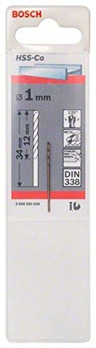 /Ø 1 mm Bosch Professional Metallbohrer HSS-Cobalt