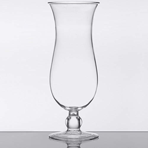 15 oz. Clear Plastic Hurricane Glasses, Break Resistant, Dishwasher Safe, Reusable, GET HUR-1-CL (Qty, 12) by Unknown (Image #1)