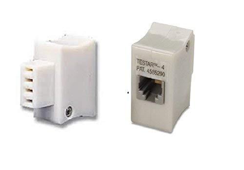 Siemon TESTAR4 4-Wire 66 Block to RJ-11 Adapter