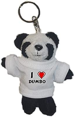 Conejito de peluche (llavero) con Amo Dumbo en la camiseta ...