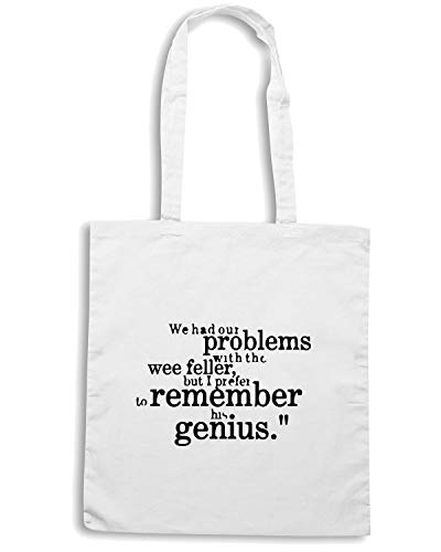 Speed Shirt Borsa Shopper Bianca WC1073 SIR MATT BUSBY BEST GENIUS QUOTE