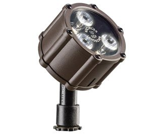 Kichler Lighting 15731AZT LED Accent Light 3-Light Low Voltage 10 Degree Spot Light, Textured Architectural Bronze with Clear Tempered Glass Lens by Kichler Lighting