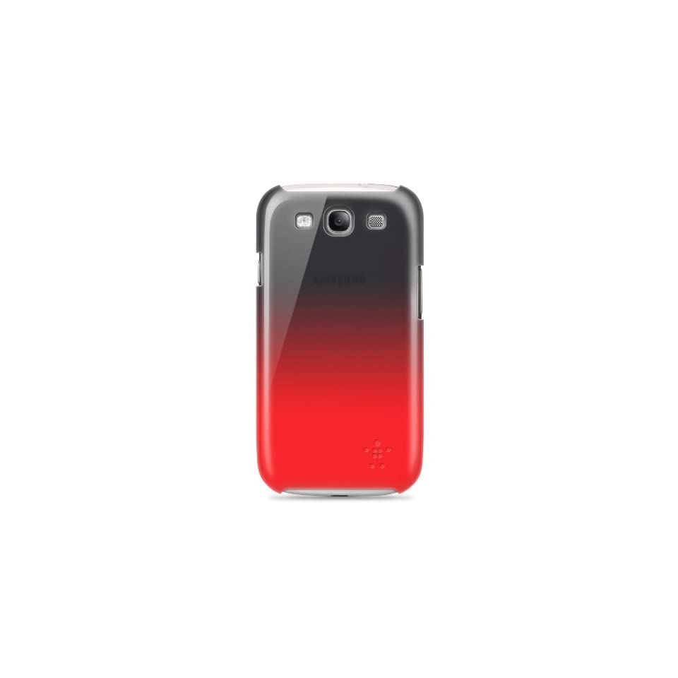 Belkin Shield Fade Case / Cover for Samsung Galaxy S3 / S III (Black / Red)