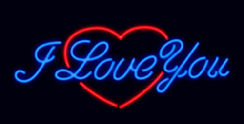 Mirsne neon signs, glass tube neon lights, 24'' by 20'' inch I Love You neon signs bar, the best neon sign custom supplied for a wide range of personal uses.