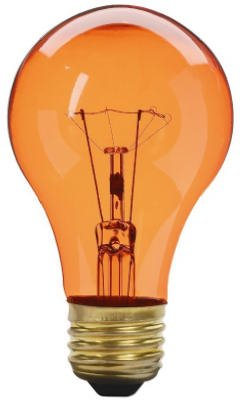 Westpointe Globe Electric 70805 Amber Party Light Bulb, Transparent, 25-Watts - Quantity 6