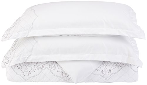 (Chic Home 3 Piece Sophia Embroidered Bridal Collection Duvet Set, Queen, White)