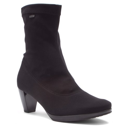 Black Women's Stretch Boot ARA Fabric Ankle Thelma wvpRPqP4S0