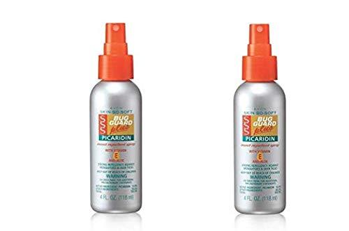 (LOT OF 2 Avon Skin-So-Soft Bug Guard Plus Picaridin With Vitamin-E & Aloe Spray Pump 4oz)