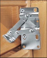 Chrome Hinges Cabinet (Rev-A-Shelf 6552-95-0220 6552 Seriesone Pair of Hinges for Tip-Out Trays 16