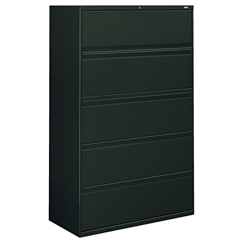 67 Charcoal (HON 895LS 800 Series Five-Drawer Lateral File, Roll-Out/Posting Shelves, 42 x 67, Charcoal)