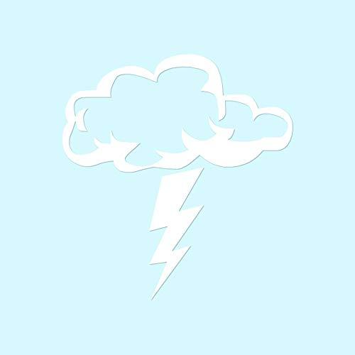 Storm Cloud Lightning Bolt - Vinyl Decal Sticker - 3.75