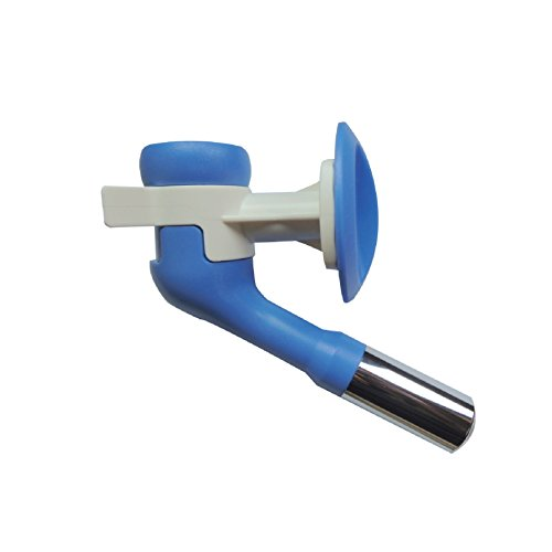 Choco Nose H570 Patented No Drip Large-Sized Dog Water Nozzle (ONLY for Dogs Over 45 lb), Enlarged Sized Leak-Proof Nozzle with 16oz Water Bottle, BPA Free, Nozzle Diameter: 22mm (Blue/White)