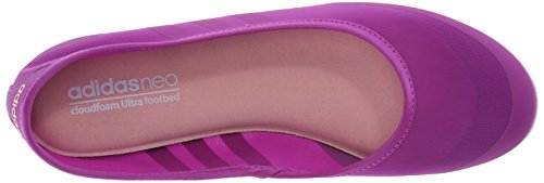Adidas Neo Sunlina W Slip-on ballet plana, Solar / amarillo / color de rosa amarillo, 6 M US Flash Pink/Flash Pink/Light Flash Orange