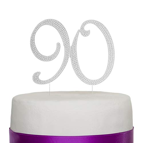 Ideas For 90th Birthday Celebrations (Ella Celebration 90 Cake Topper for 90th Birthday Number Party Supplies & Decoration Ideas)