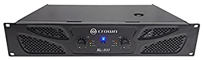 Crown Pro XLi800 600w 2-Channel DJ/PA Power Amplifier Amp + Cables XLI 800 from CROWN