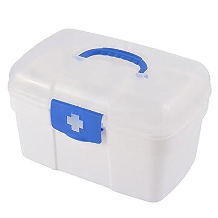 eDealMax Píldora plástico del hogar de la tableta Caja de almacenamiento caja de primeros auxilios Medicina