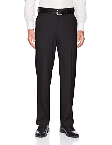 Charcoal Dress Pants Gray (Haggar Men's Premium Comfort Classic Fit Flat Front Expandable Waist Pant, Charcoal, 44Wx30L)