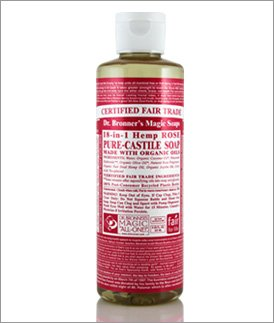 Org Rose Oil Castile Soap-236 ml Brand: Dr. Bronners Magic Soap (Rose Org)
