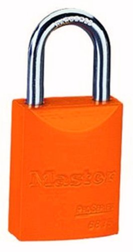 Master Lock 6835ORJ Safety Series Padlock, Aluminum Body, 2-inch, Orange