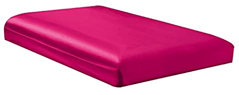 QUEEN size, Bridal SATIN Solid HOT PINK Fitted Bed Sheet - Super Silky & Soft - SALE - High Thread Count - 1500 Series-Wrinkle, Fade, Stain Resistant, Deep Pockets, - Pink Satin Sheet Set