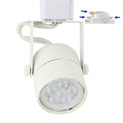 - D&D Brand H System GU10 Line Voltage Track Lighting Fixture White with 7.5W 3K Warm White LED Bulb HA-4519-LED3K-WH