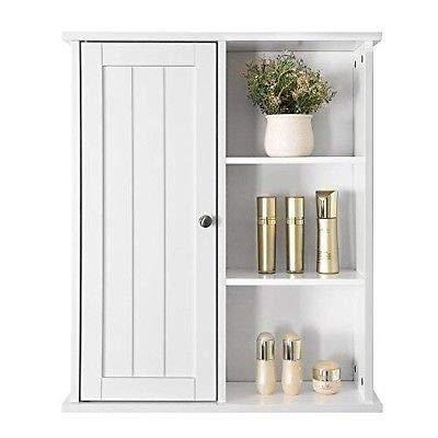 Generic en Organizerabinet Living Room White Bathroom Wall Cupboard Shelf Cabinet Storage Kitchen Organizer White Bathroom