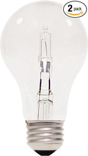 Satco S2402 43 Watt (60 Watt) 750 Lumens A19 Halogen Warm White 3000K Clear
