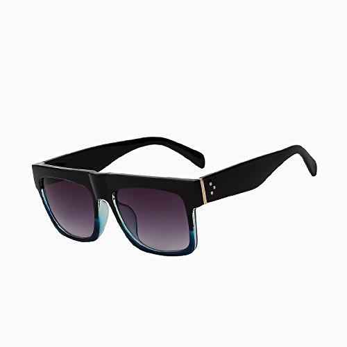 Tianliang04 carré Black de UV400 Lunettes soleil de haute femmes Lunettes soleil Lunettes Oculos plat femelle dessus blue nbsp;vintage qualité frame de large rgwOr4