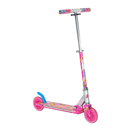 barbie-folding-scooter-with-led-deck-silver-pink