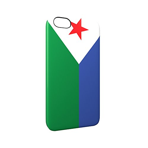 Flag of Djibouti Glossy Hard Snap-On Protective iPhone 5 / 5S / SE Case Cover