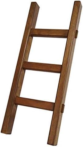 小さな小さな木製梯子(はしご) ディスプレイラダー・飾り棚・無垢 (3段 0.51m, ウォルナット)